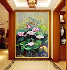 Living Room Art Canvas by Modern Art Canvas Chinese Lotus Painting Flowers Paintings For