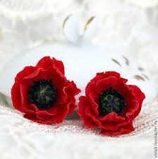 poppy earrings buy poppies poppies polymer clay earrings with