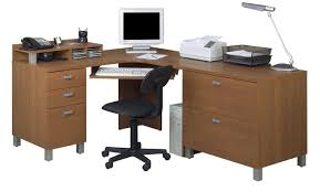 Oak Corner Desk With Hutch Student Computer Desk Home Office Wood Laptop Table Study Office