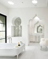 White Fluffy Chair Bathrooms Luxury Moroccan Bathroom With White Sink And Fluffy
