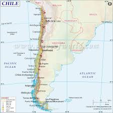 South America Flags Highlighted Chile On Map Of South America With National Flag Stock