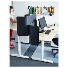 Sit Stand Desk Attachment by Bekant Desk Sit Stand Birch Veneer White 160x80 Cm Ikea