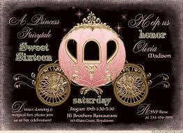 sweet 16 invitations fairytale sweet sixteen invitations enchanted cinderella