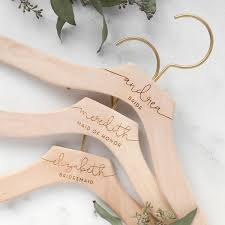 wedding dress hanger personalized bridesmaid hangers foxblossom co