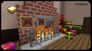 Minecraft How To Make A Furniture by Minecraft How To Make A Christmas Fireplace Youtube
