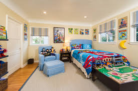 Bedrooms Small Side Table Side Chairs Beige Rug Artwork Blue by Bedroom Boys Room Themes Idea To Make It Look Attractive