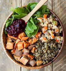 vegan thanksgiving power bowl feasting on fruit