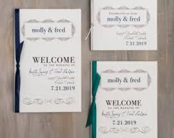 Wedding Program Cover Wording Script Brooklyn Etsy