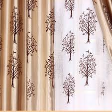 modern tree and geometrical patterns poly and fiber curtains buy