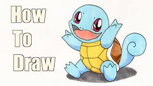 how to draw squirtle pokemon drawing tutorial youtube