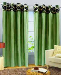 new african style set of 2 long door eyelet curtains african