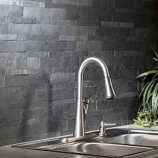 aspect backsplash stone tile in charcoal slate