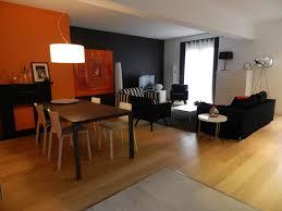 salon et cuisine moderne salon orange et beige avec cuisine deco deco salon