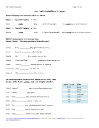 leisure time activities and adverbs of frequency