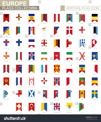 Europe Country Flags Vertical Flag Icon Europe European Countries Stock Vector