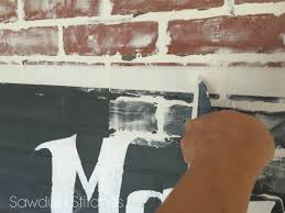How To Paint A Faux Brick Wall - faux brick wall with ad sawdust 2 stitches