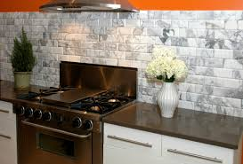 appealing stones subway tile white kitchen backsplash with chrome