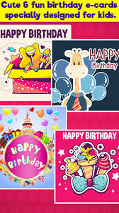 happy birthday cards u0026 greetings for kids on the app store