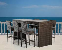 Outdoor Bar Table And Stools Contemporary Outdoor Bar Stools Modern Choosing Swivel With Arms
