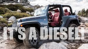 jeep wrangler unlimited diesel conversion 2016 jeep wrangler definitely getting diesel engine gas 2