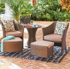 Patio Chairs With Ottoman Best 25 Resin Wicker Patio Furniture Ideas On Pinterest Outdoor
