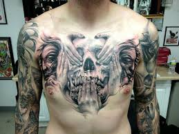 collection of 25 skull n eagle on chest