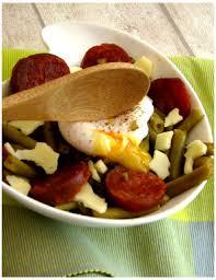 entr cuisine facile haricots verts au chorizo et œuf poché un mariage réussi
