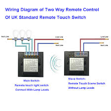 Touch Light Control Uk Standard 3 Gang Remote Touch Scene Switch For Two Way Remote