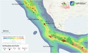 California Fault Map M U003d5 7 Earthquake Highlights Rifting Gulf Of California Temblor Net