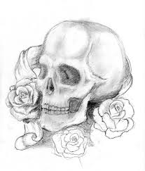 skull with roses by boticello on deviantart
