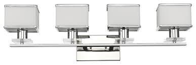 Felix 4 Light Cage Vanity - trilluminate 4 light vanity fixture transitional bathroom