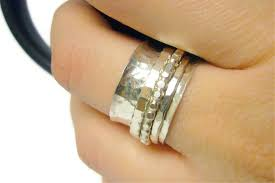 worry ring sterling silver spinner ring worry ring for anxiety ring
