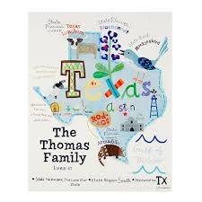 personalized family state state print family and state