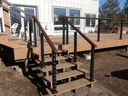 home decor black aluminum posts with wood top rail