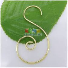 100 pcs gold plated swirl scroll wire tree ornament
