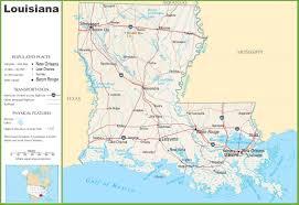 louisiana geographical map popular 186 list louisiana state map
