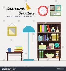 home furniture interior design set elements stock vector 305256155