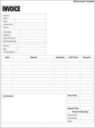 free blank invoices printable components of balance sheet free