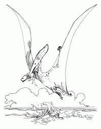 dinosaur pteranodon free printable coloring pages