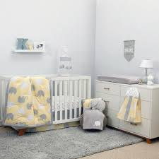 Elephant Crib Bedding Sets Nojo The Dreamer Collection Elephant Yellow Grey 8 Crib