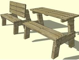 Plans For Building Picnic Table Bench by Jacks Furniture Plans Jacks Furniture Plans