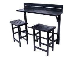 Bistro Set Outdoor Bar Height by Amazon Com Miyu Furniture 3 Piece Balcony Bar Onyx Garden