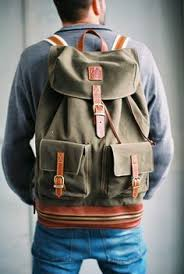 Most Rugged Backpack Roll Top Scout Leather And Canvas Backpacks Backpacks