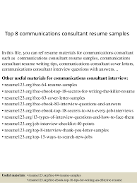 Communication Resume Examples by Top 8 Communications Consultant Resume Samples 1 638 Jpg Cb U003d1431923878