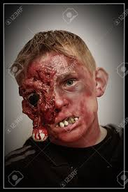 boy with zombie makeup stock photo picture and royalty free image