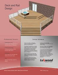 deck design software from luxwood remodeling decks