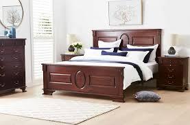 opal bed frame cognac bedroom furniture forty winks