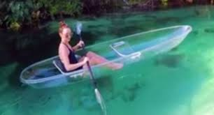 clear kayak what could be better than crystal clear water and a clear kayak