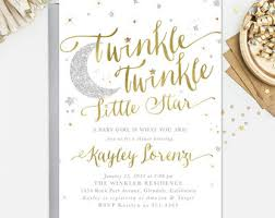 twinkle twinkle baby shower invitations twinkle twinkle baby shower invitation etsy