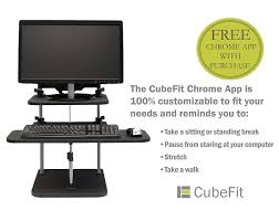 Standing At Your Desk Vs Sitting by Amazon Com Cubefit Standing Desk Sit Or Stand With Free